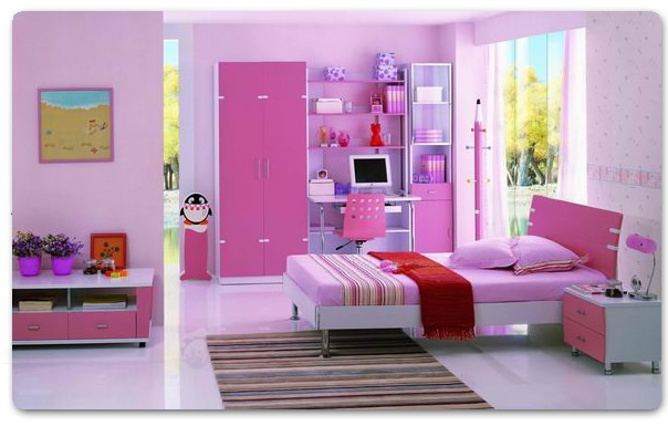 Decoraci n infantil habitaci n para ni as color rosa - Decoracion habitacion infantil nina ...